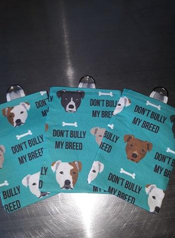 Blue/Green - Don't Bully My Breed Treat Bag