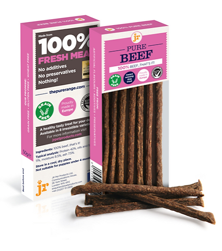 Pure Beef Sticks - 50g - JR Pet Products