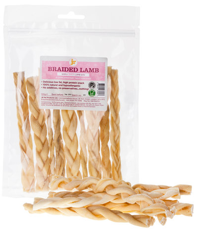 Braided Lamb - JR Pet Products 100g