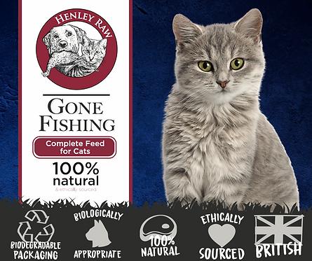 Gone Fishing - Cat Food - Henley Raw - 500g