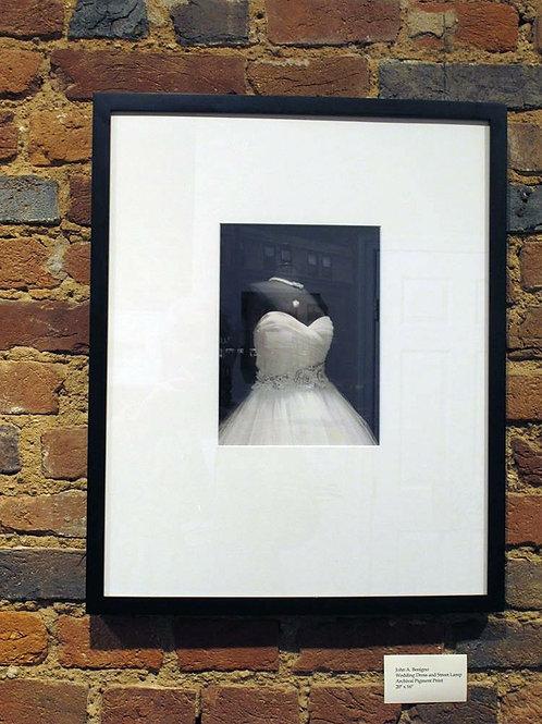 Wedding Dress and Street Lamp