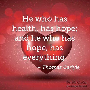Health equals hope