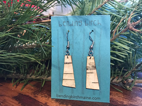 Skinny Trapezoid Birch Earrings