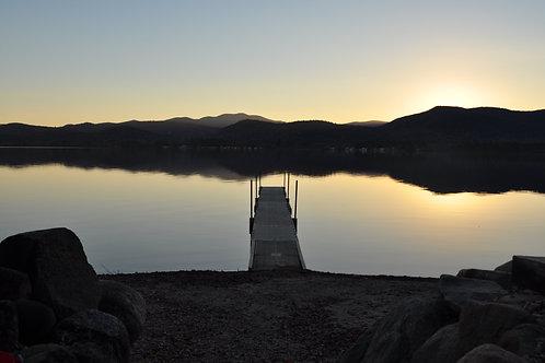 Lake at Sunset Canvas Photo