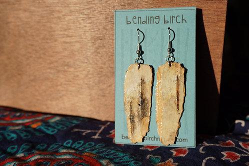 Large Rough Birch Earrings