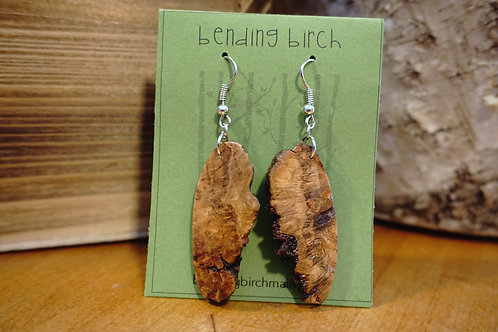 Live Edge Cherry Burl Earrings