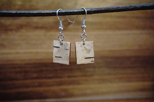 Tiny White Birch Earrings