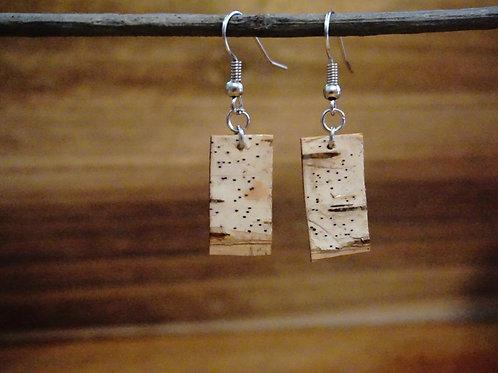 Small White Birch Earrings