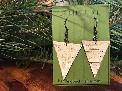 Triangular White Birch Earrings