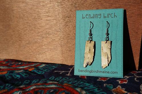 Small Rough White Birch Earrings