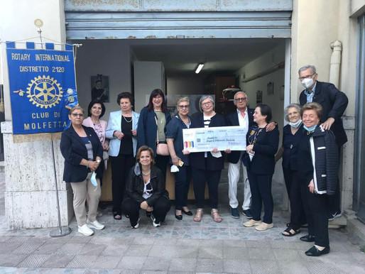 Il Rotary di Molfetta ristruttura e rimette in funzione il locale delle Vincenziane per fornire capi