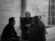 Con Olaya Hernando y César Linares