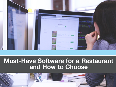 Critical Softwares for Restaurant Owners and Managers