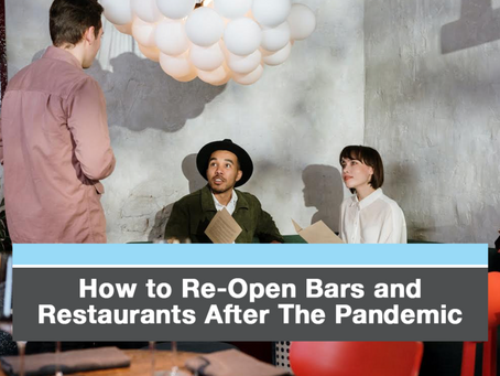 How to Re-Open Bars and Restaurants After the Pandemic