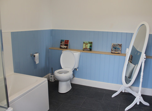 The brand new bathroom..