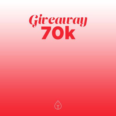 ¡Giveaway 70K !