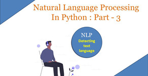 Natural Language Processing In Python : Part - 3