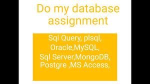 Database Assignment help | Database Homework Help