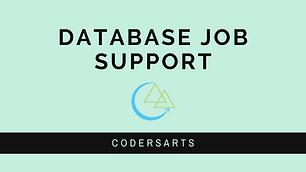 Database Job Support