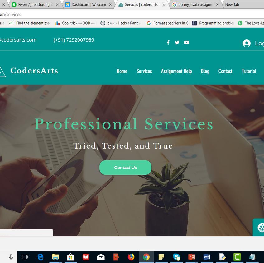 codersarts is computer science assignment portal.