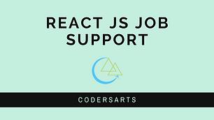 React Js Job Support