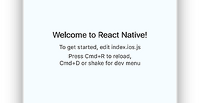 Creating a new application in React Native