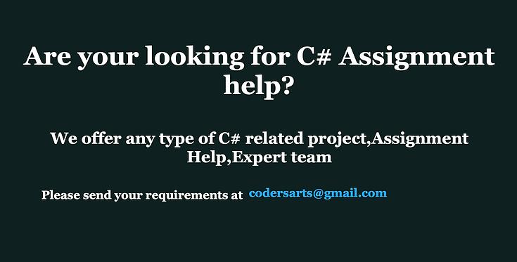 Codersarts-c#-assignment-help-C# project