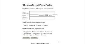 Creating Pizza order GUI Using Java Script