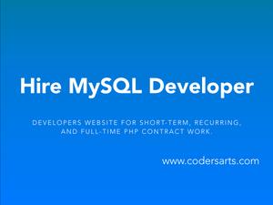 Hire MySQL Developers on Codersarts