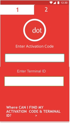 Activation code app for mobile app