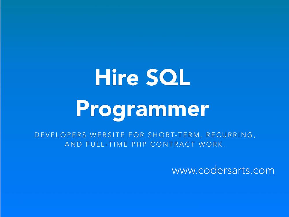 Hire SQL Programmers at Codersarts