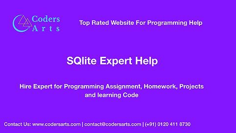 Codersarts SQLite Homework Help,assignment help.jpg