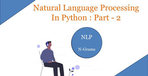 Natural Language Processing In Python : Part - 2