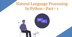 Natural Language Processing In Python : Part - 1