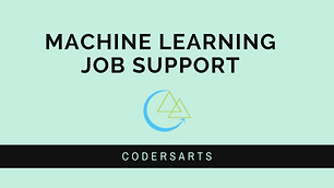 Machine Learning Job Support