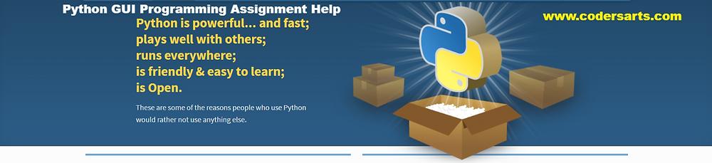 Python GUI Assignment Help:Codersarts