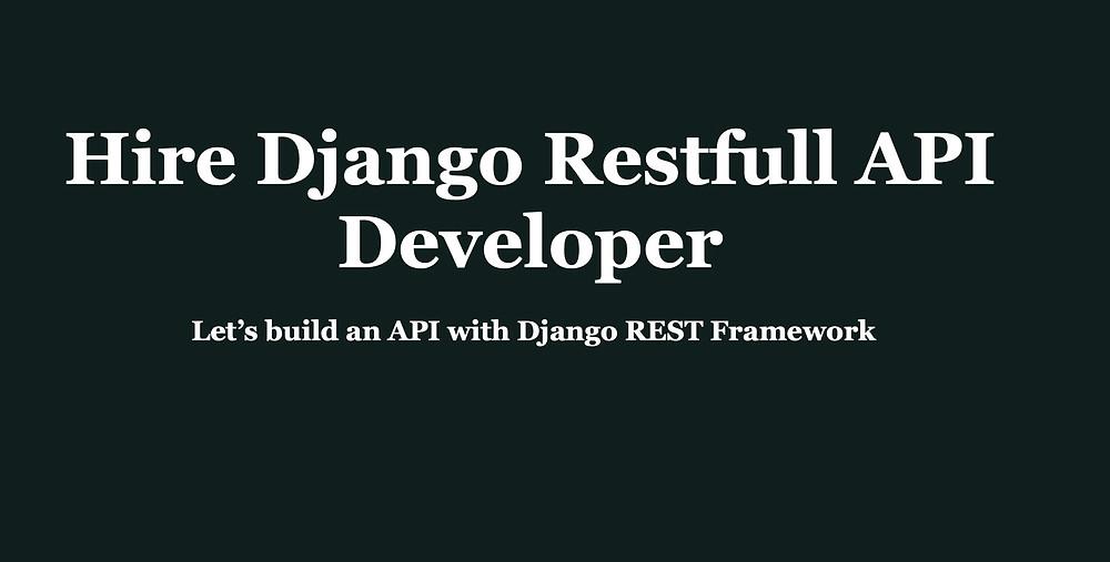 Django API Developer