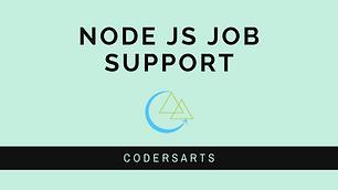 Node.Js Job Support
