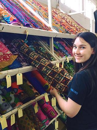 Emily fabric shopping