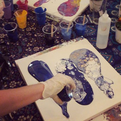 Who wants to create a fluid painting_ 😊