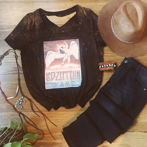 Led Zeppelin Distressed Graphic Tee