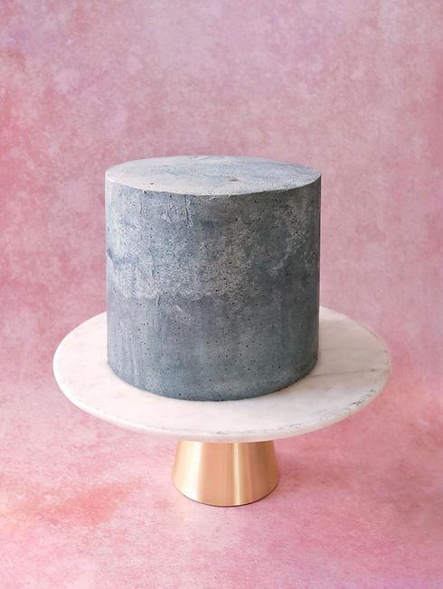 vegan concrete cake | vegane moderne Torte Berlin