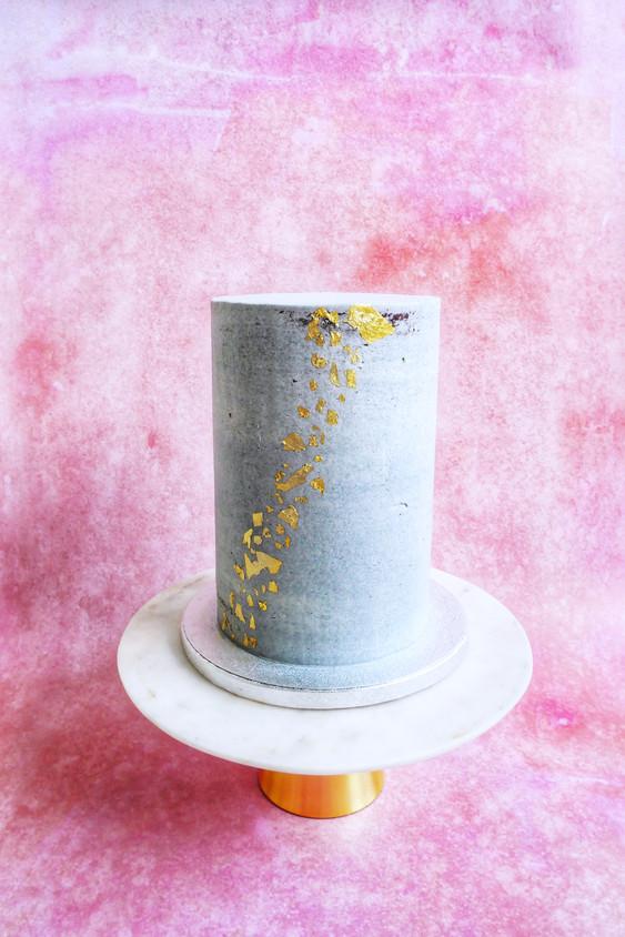 Semi-naked Torte in Beton-Look