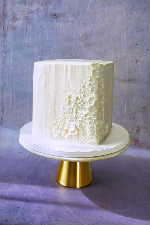 Quadratische vegane Hochzeitstorte