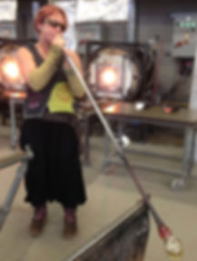 Blowing glass for coral forms