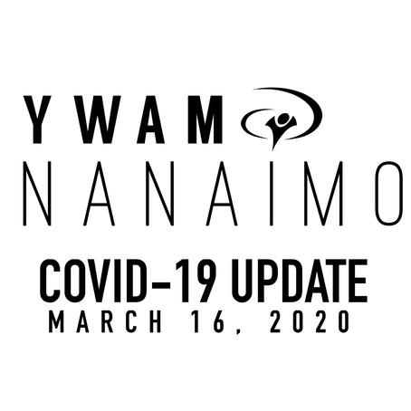 COVID-19 UPDATE March 16, 2020