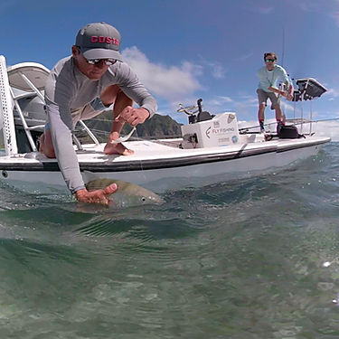 Bonefishing with Fly Fishing Hawaii