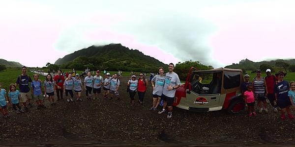 Kuuloa Ranch 5k Fun Run, Jurassic Park jeep