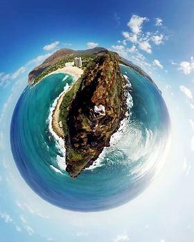 Tiny Planet of Westside Oahu