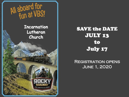 SAVE THE DATE for VBS at ILC